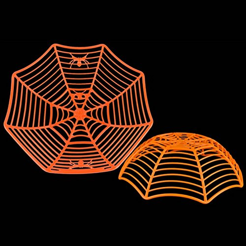 Ideas Party Prison Costume (Smartcoco Ecofriendly Plastic Spider Web Fruit Candy Bowl Halloween Props Party)