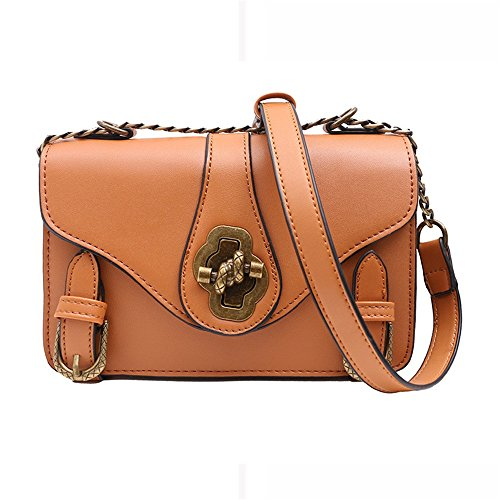 For Straps Simple Everyday Use Bag Magnetic Shoulder Chain Suitable Retro Pu Portable Brown Bag Square Asdflina Messenger Z6qw5HnYCx