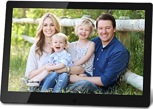 Pix-Star 10 Inch Wi-Fi Cloud Digital Picture Frame with IPS high resolution display, Email, iPhone iOS and Android app, DLNA and Motion Sensor Black
