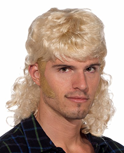(Forum Novelties Men's 90's Mullet Wig, Blonde, One)
