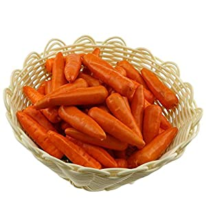Gresorth 30 PCS Mini Size Artificial Carrot Fake Vegetable Home Kitchen Decoration 12