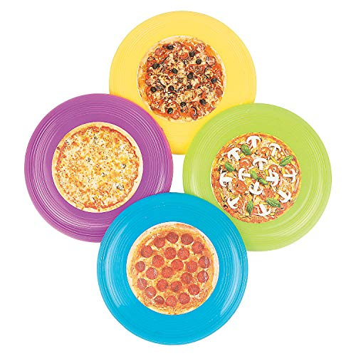 (Fun Express - Pizza Flying Discs - Toys - Active Play - Flying Discs & Kites - 72 Pieces)