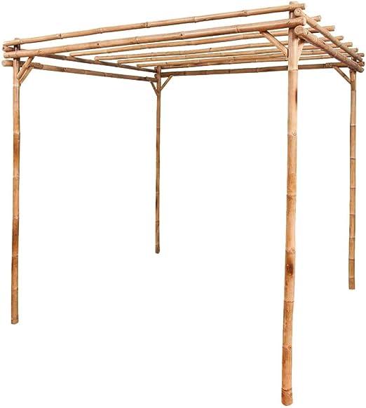 FAMIROSA Pergola bambú 195 x 195 x 195 cm: Amazon.es: Hogar