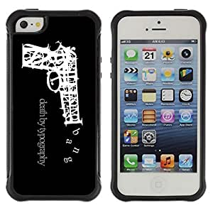 Hybrid Anti-Shock Defend Case for Apple iPhone 6 plus 6 plus Death By Typography Kimberly Kurzendoerfer