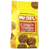 Mi-Del Natural Flavored Ginger Snaps, 10 Ounce by Mi-Del