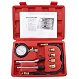 Bang4buck 0-300 PSI 8 Pieces Engine Compression Gauge Set Kit Cylinder Dianostic Tester with Case...