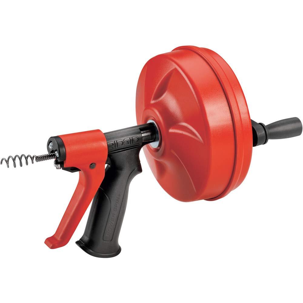 RIDGID 57043 Power Spin con AUTOFEED, Cable limpiador de desagües Maxcore y Cable helicoidal de bombilla para limpieza de desagües para eliminar obstrucciones en desagües