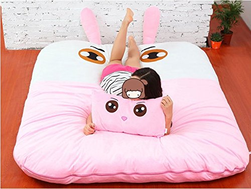 Amazon.com: Norson Animal Cartoon Series Sleeping Bags, Mattress for Kids, Super Soft Sofa Bed Twin Bed Double Bed Warm Cartoon Tatami Beanbag (Sheep, ...