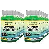 Morpheme Mucuna Pruriens (Kapikachhu) 500mg Extract – 60 Veg Caps (Pack Of 10)