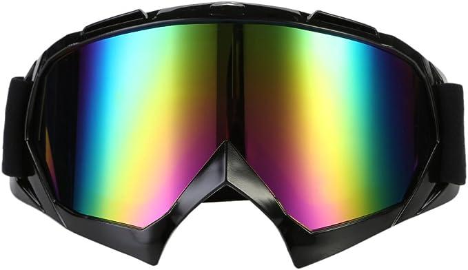 Tbest Retro Motorradbrille Winddichter Motorrad schutzbrille Outdoor Sicherheit Augenschutzbrille Anti-Wind Anti-Sand Helmbrille Sport Sonnenbrille mit goldenem Rahmen zum Radfahren Klettern