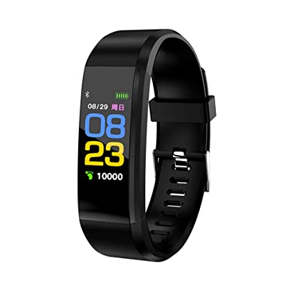 WSTJY Fitness Tracker, Waterproof Color Screen Activity Smartwatch and Pedometer Blood Pressure Heart Rate Monitor Calorie Counter for iOS Android ...