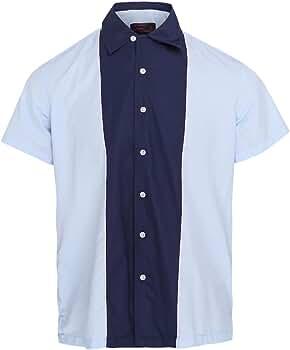 Neon Lounge Camisa de Bolos Hombre Cian/Azul Marino Talla 3XL: Amazon.es: Ropa y accesorios