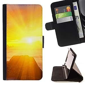 For Samsung Galaxy Note 3 III Case , Naturaleza Hermosa Forrest Verde 104- la tarjeta de Crédito Slots PU Funda de cuero Monedero caso cubierta de piel