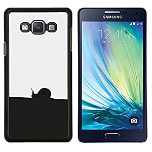 EJOOY---Cubierta de la caja de protección para la piel dura ** Samsung Galaxy A7 A7000 ** --Negro Blanco Caracol