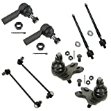 Pontiac Vibe Ball Joints & Components - 8 Piece Kit Inner Outer Tie Rod Sway Bar Link Ball Joint Set for Vibe Matrix AWD