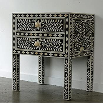 Bone Inlay 2 Drawer Dresser Black Butler Handmade Bone Inlay Furniture