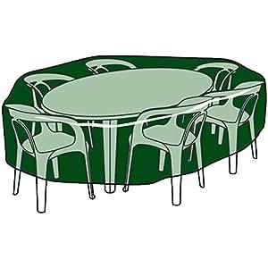 Biotop b2220 funda circular cubre mesas y sillas de polietileno jard n - Amazon mesas de jardin ...