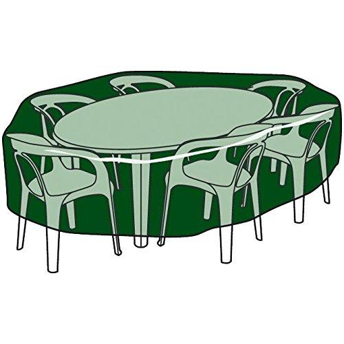 BIOTOP B2220 - Funda Circular Cubre mesas y sillas de Polietileno: Amazon.es: Jardín