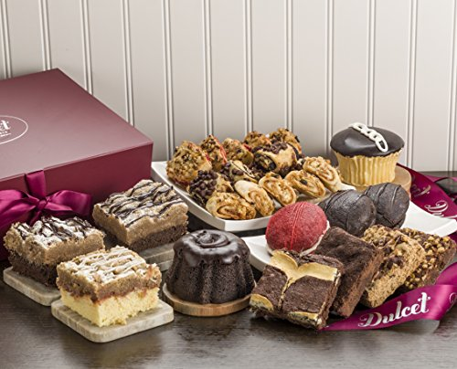 Dulcet New Years Eve Party Gift Box – Includes an Assortment of Individually Wrapped Pastries in a Variety of Flavors. Elegant Gift Box. Uniquely Tasty Gift Idea (Baked Good Gift Baskets)