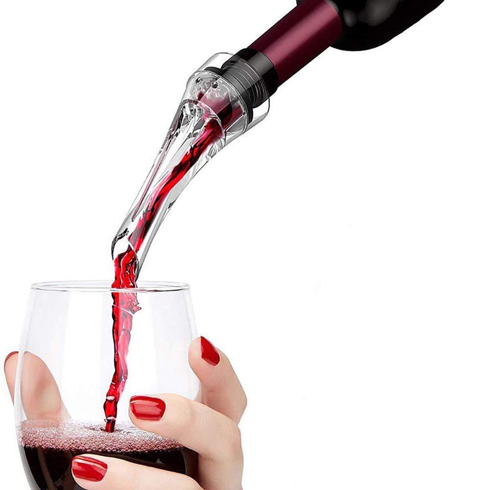 RENNICOCO Bec de vin a/érateur Bec verseur Mat/ériel Acrylique Solide A/ération Accessoire D/écanteur Vin Parfait