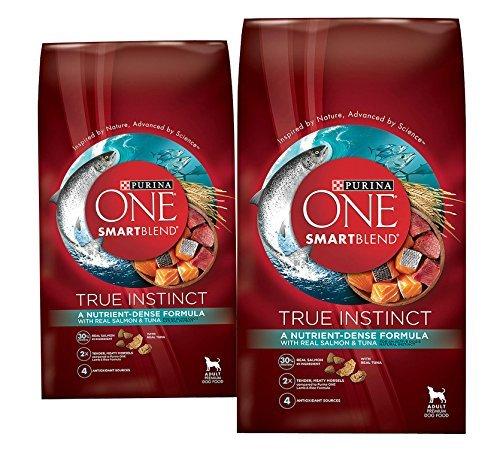 3.8 Lb Bag - (2 Pack) Purina ONE Purina ONE Smartblend True Instinct Formula - Real Salmon & Tuna - 3.8 lb per bag