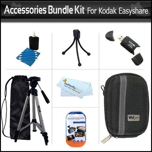 Deluxe Starter Accessories Bundle Kit For Kodak EasyShare M577 M583 M580 M575 M550 M530 Digital Camera Includes USB 2.0 Card Reader + Hard Case + 50 Full Tripod + LCD Screen Protectors + More (Kodak Easyshare M583 Accessories)