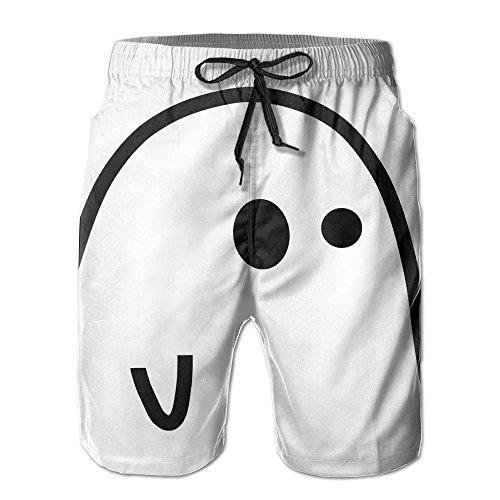 Funny Ghost Halloween 2017 Hot Adult Beach Shorts (Garlands Halloween 2017)