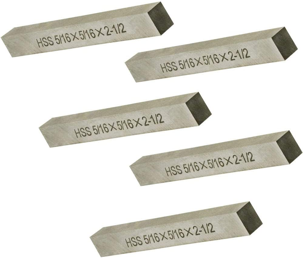 "5 pc HSS Square Tool Bit High Speed Steel M2 1//4/"" x 2-1//2/"" for Lathe Fly Cutter"