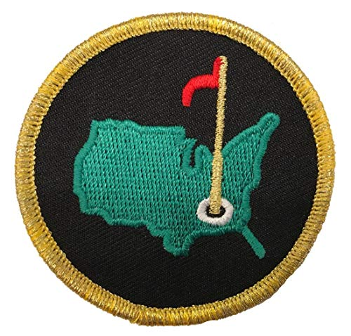 (Augusta Golf Masters Green/Black Patch Iron/Sew On (2.5 Inch))