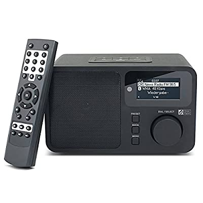 Ocean Digital WR232 WiFi Internet Radio WLAN Wireless Multimedia Music Player Home Audio Streaming - Black