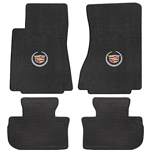 Lloyd Mats 4 Piece Velourtex Ebony Carpet Floor Mats w/Cadillac Logo for Cadillac CTS 2WD Sedan/Wagon (2008-2013) ()