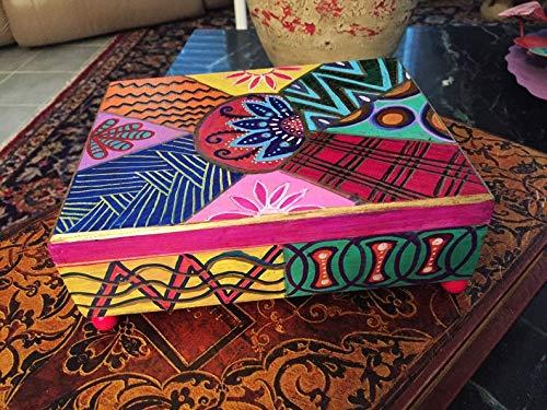 "ersonalized Cigar Box Hand Painted Bohemian Wood Cigar Box 8""Wx3""Hx6"" from RHandDesign"