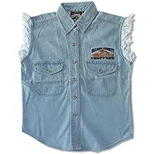 Orange County Choppers Embroidered OCC Biker Ladies Blue Denim Vest