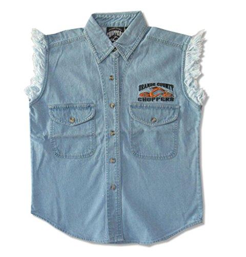 Orange County Choppers Embroidered OCC Biker Ladies Blue Denim Vest (M)
