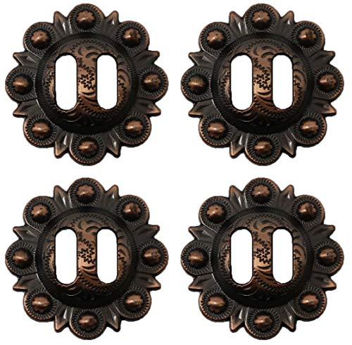 CHALLENGER Set of 4 Conchos Western Saddle Tack 1-1/2