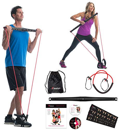 Bodygym Core System Portable Home Gym – Resistance Trainer All-in-One Band + Bar Kit, Full Body Workout: Improve Fitness…