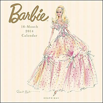 2014 BARBIE WALL CALENDAR By Designer Robert Best