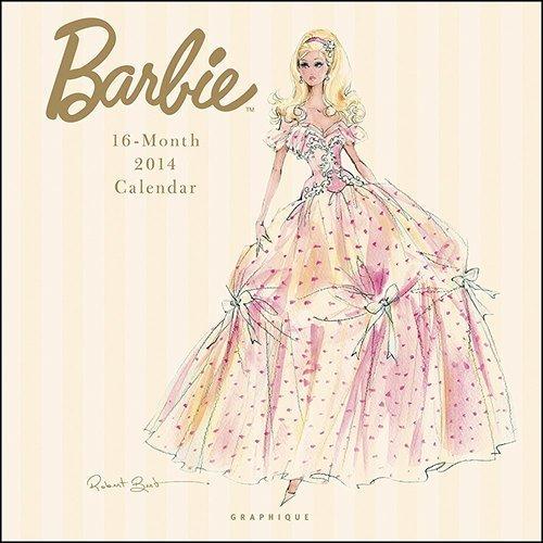2014 BARBIE WALL CALENDAR by Designer Robert Best by BARBIE Calendar