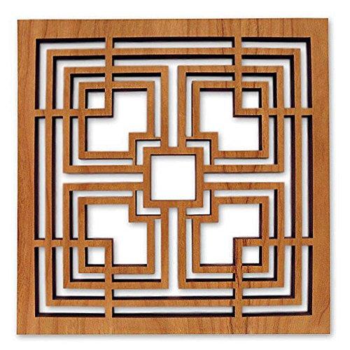 Frank Lloyd Wright Storer Textile Block Hardwood Trivet (Block Textile Lloyd Wright Frank)