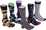 Marino Mens Dress Socks - Fun Colorful Socks for Men - Cotton Funky Socks - 6 Pack - Designer Collection - 13 - 15
