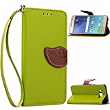 J3 Case, Galaxy Amp Prime Case, Galaxy Express Prime Case - OEAGO [Wallet Stand] [Wrist Strap] Cover with ID & Credit Card Pockets for Samsung Galaxy J3 (2016) / Amp Prime / Express Prime - Green