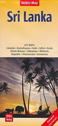 Sri Lanka  Ceylon  1 500 000   City Plans Travel Map  Waterproof  Nelles