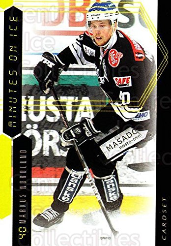 ((CI) Markus Nordlund Hockey Card 2010-11 Finnish Cardset Minutes On Ice 14 Markus Nordlund)