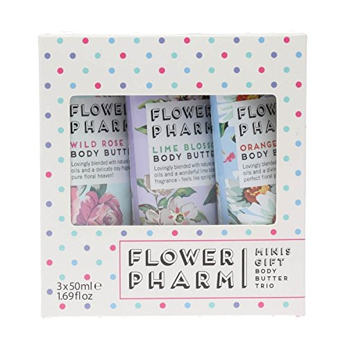 Flower Pharm Body Butter Trio Gift Set, Rose, Lime, Orange