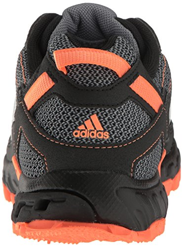 adidas Women's Rockadia Trail W Running Shoe Black/White/Easy Orange 6 M US by adidas (Image #2)