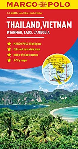 Thailand, Vietnam, Laos, & Cambodia Marco Polo Map (Marco Polo Maps)...