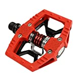 Crank Brothers Double Shot Limited Edition Colored Pedals, Red