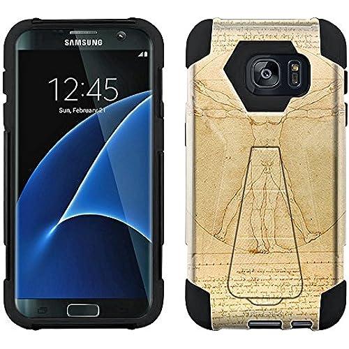 Samsung Galaxy S7 Edge Hybrid Case Leonardo da Vinci The Proportions of Man 2 Piece Style Silicone Case Cover with Stand for Samsung Galaxy S7 Edge Sales