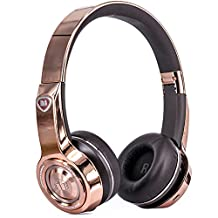Monster Elements Wireless On-Ear Headphones with Digital USB Audio, Rose Gold
