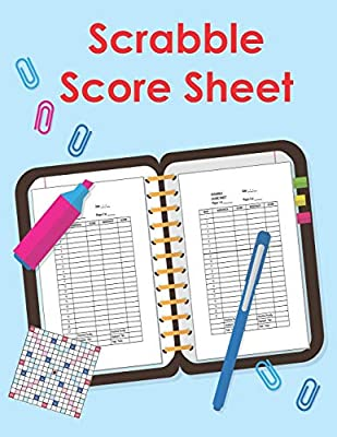 Scrabble Score Sheet: 100 Pages Scrabble Game Word Building For 2 Players Scrabble Books For Adults ,Dictionary ,Puzzles Games ,Scrabble Score Keeper ,Scrabble Game Record Book ,Size 8.5 x 11 Inch: Amazon.es: